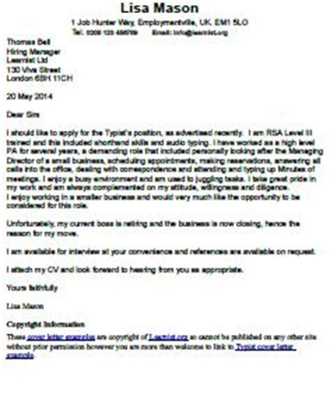 Example of application letter for the post of a secretary
